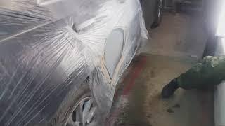 Ремонт и покраска двери .Тойота Камри.
