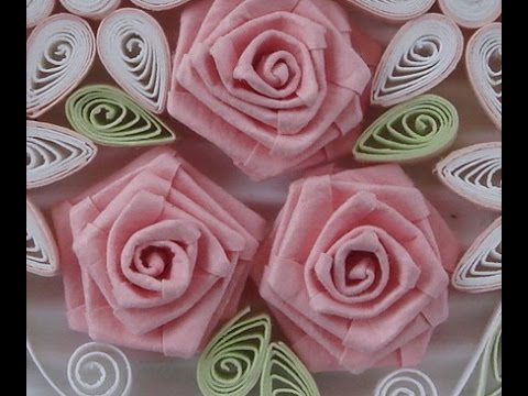 Papercraft How to Fold Rose- Paper Quilling