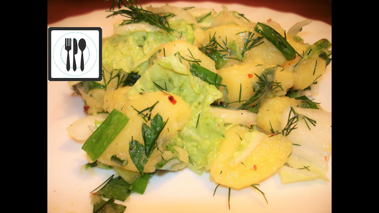 Картофельный салат классический турецкий. Картофель с зеленью / Patates salatasi tarifi