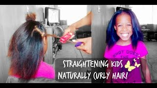 How To Flatiron Kids Naturally Curly Hair
