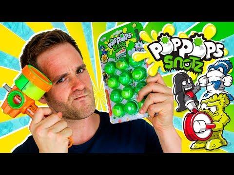 Pop Pops Snotz Series 1 UNBOXING 4 STARTER Y DELUXE PACKS en Pe Toys