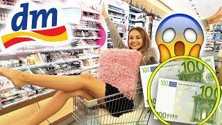 LIVE DM HAUL 😱 Ich darf NACHTS ALLEINE für 200 Euro bei DM shoppen | XLAETA