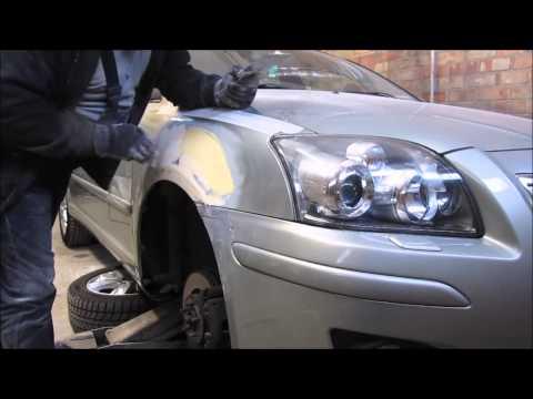 Toyota Avensis. The front fender repair. Ремонт переднего крыла.
