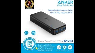Pin sạc dự phòng Anker Powercore Elite 20000mAh - 03 cổng sạc PIQ - A1273