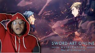 SWORD ART ONLINE ALICIZATION WAR OF UNDERWORLD PART 2 PV 3 REACTION
