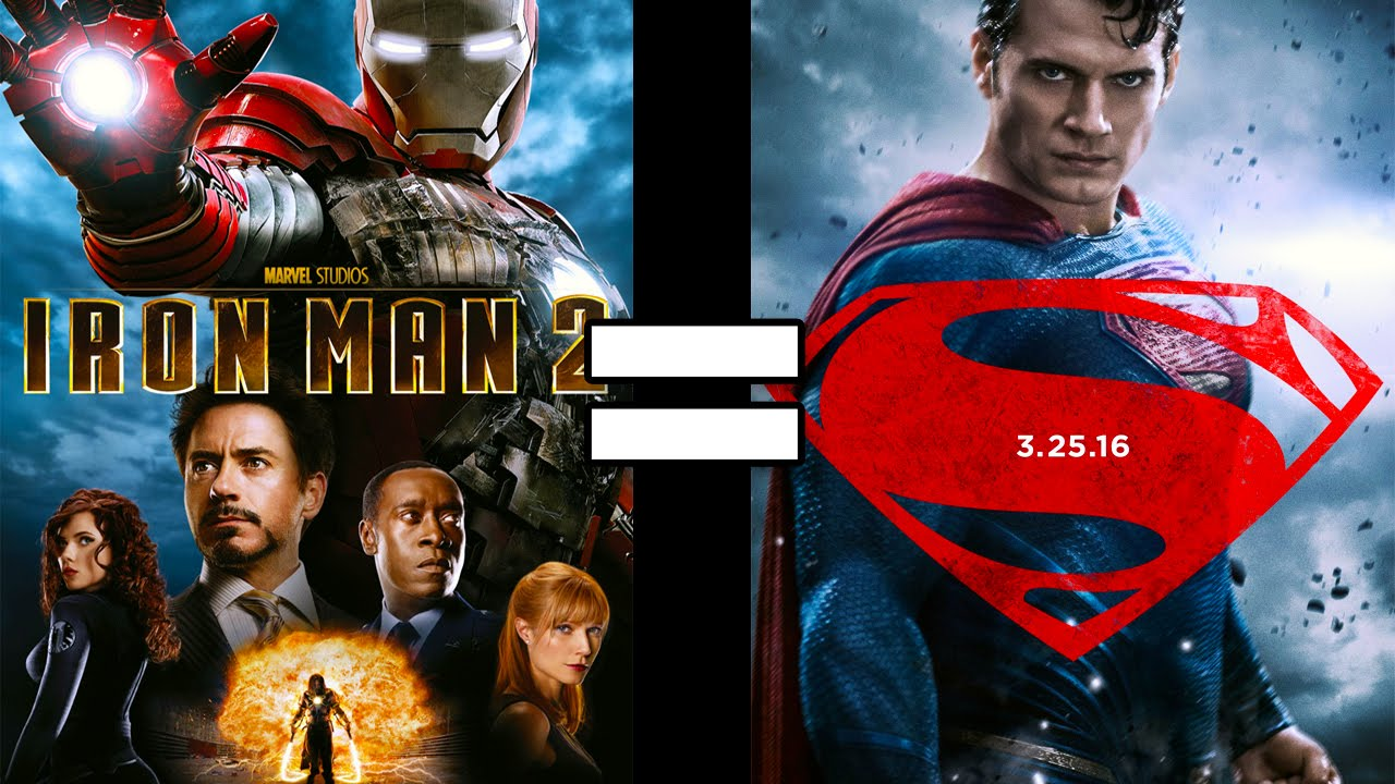 24 reasons batman v superman iron man 2 are the same movie batman superman iron man 2