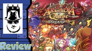 Tom Vasel takes a look at Arcadia Quest: Inferno from Cool Mini Or ...