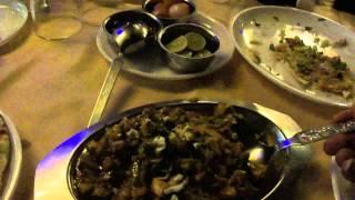 Vegetable Do Piyaza & Butter Naan at Sauras restaurant, near Sayaji Library, Navsari, Gujarat, India; 4th May 2012