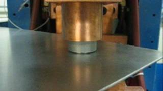 A projection weld and the resulting pull strength done using a Amad...