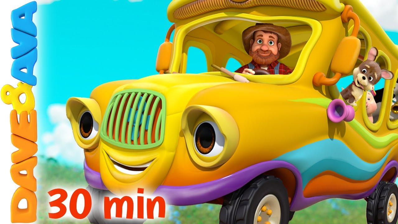 🚌  Wheels On The Bus Part 3   Nursery Rhymes & Kids Songs   Dave and Ava 🚌