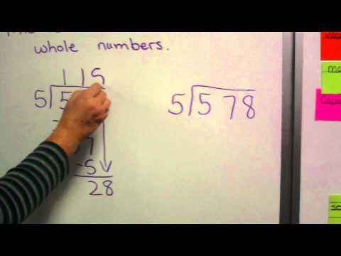 How to Divide Whole Numbers