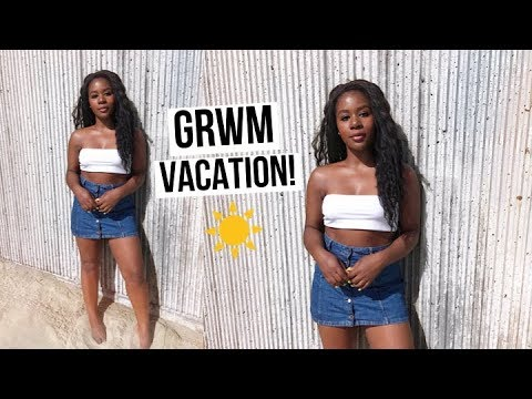 GET READY WITH ME ON VACATION! l CALI 2019