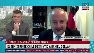 Dosis Pfizer: El ministro de Chile desmintió a Daniel Gollan