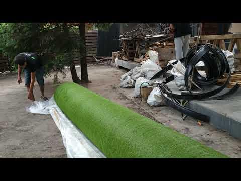 Искусственный газон - укладка и монтаж