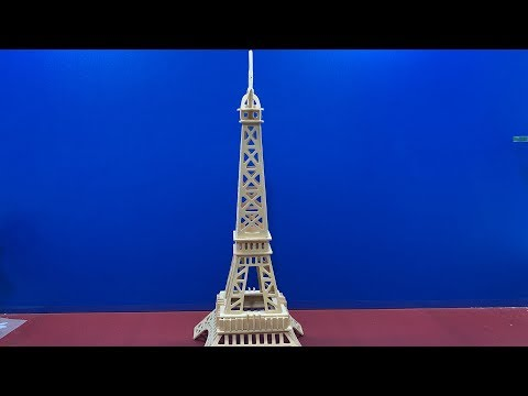 DIY 3D Wooden Puzzle EIFFEL TOWER