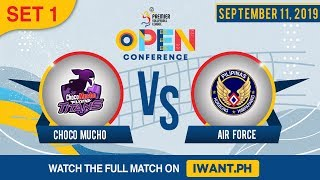 SET 1 | Choco Mucho vs. Air Force | September 11, 2019 (Watch the full game on iWant.ph)