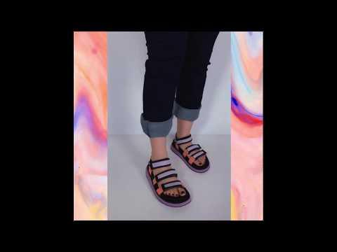 MARS sandália velcro - lilás (vegan)