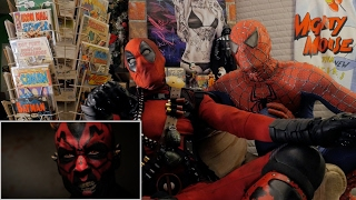 SPIDER-MAN vs DARTH MAUL - REACTION SPANDEX - WITH SPIDER-MAN AND DEADPOOL