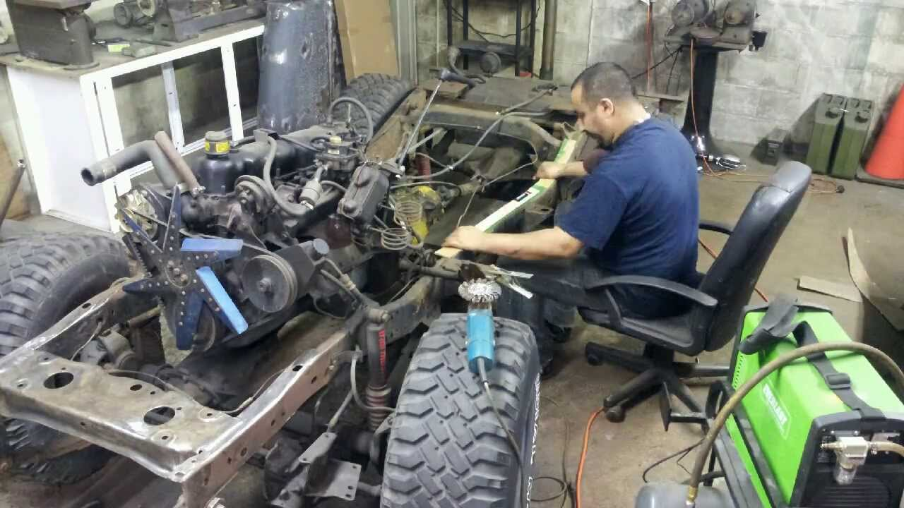 project cj5 - frame repair (part 5) - youtube  youtube