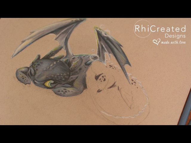 Lazy Toothless - Coloured Pencil How to Train your Dragon