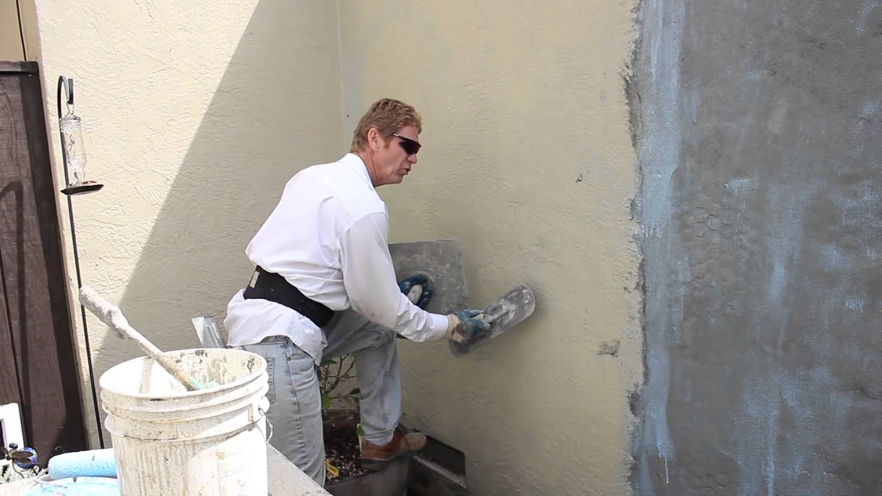 Can you stucco over painted stucco youtube How to plaster a house exterior