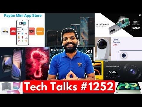 Tech Talks #1252 – Mi 10T India Launch, Paytm Mini App Store, Realme 360 Cam, Folding iPad, Razr 5G