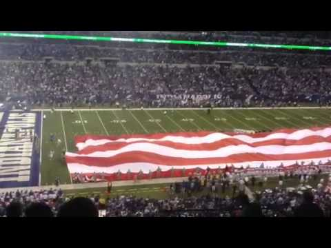 Giant American flag at RCA Dome