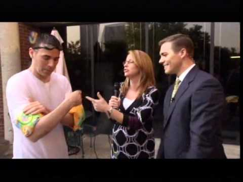 WDRB-TV - WDRB in the Morning - Jude Redfield soaked on live TV - 9/2/2011