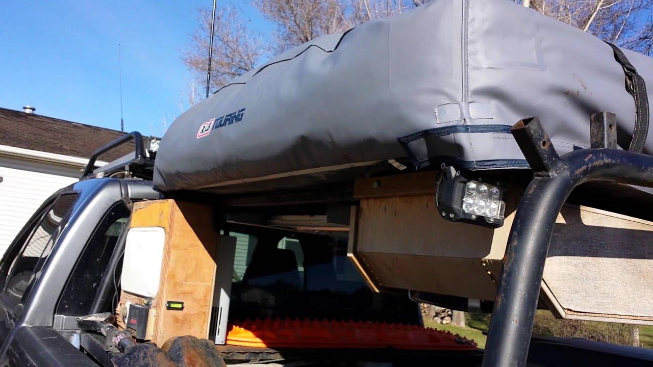 Roof top tent rack - YouTube