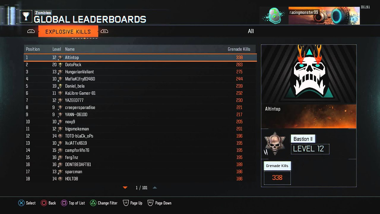 Black Ops 3 - Day 1 Zombies Leaderboards - PS4 - November ... | 1920 x 1080 jpeg 146kB