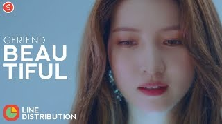 Gfriend - beautiful | line distribution