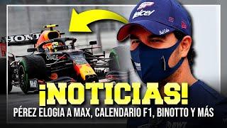¡CHECO PÉREZ ELOGIA A VERSTAPPEN! NUEVO CALENDARIO F1 2022, ALONSO SIGUE SIENDO MÁGICO Y MÁS