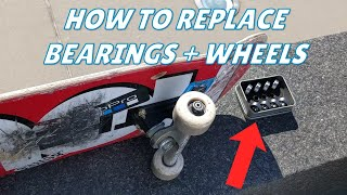 How to change skateboard bearings and wheels EASILY