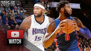 DeMarcus Cousins vs Andre Drummond Duel Highlights (2015.11.11) Kings vs Pistons - Clash of Titans!
