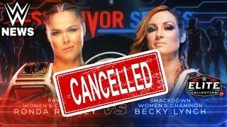 RONDA ROUSEY VS BECKY LYNCH CANCELLED?!?! SURVIVOR SERIES 2018 WWE NEWS