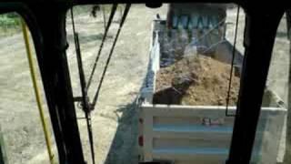 Volvo Excavator Loading dump truck
