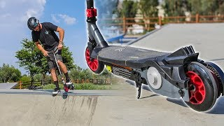 WALMART ELECTRIC SCOOTER TRICKS AT SKATEPARK!