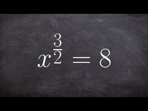 How to solve equations containing rational exponents