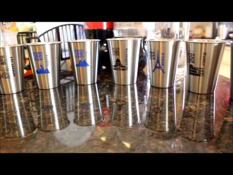 Xiqron World Cup, Stainless Steel Cups, with free online Trivia Game Video