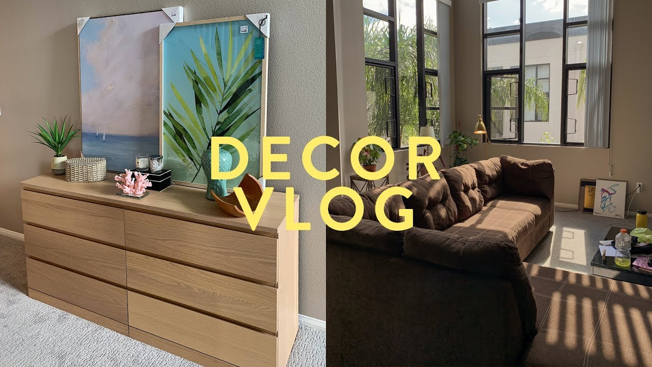 VLOG: Decorating My Apartment! | Asia Jackson - YouTube