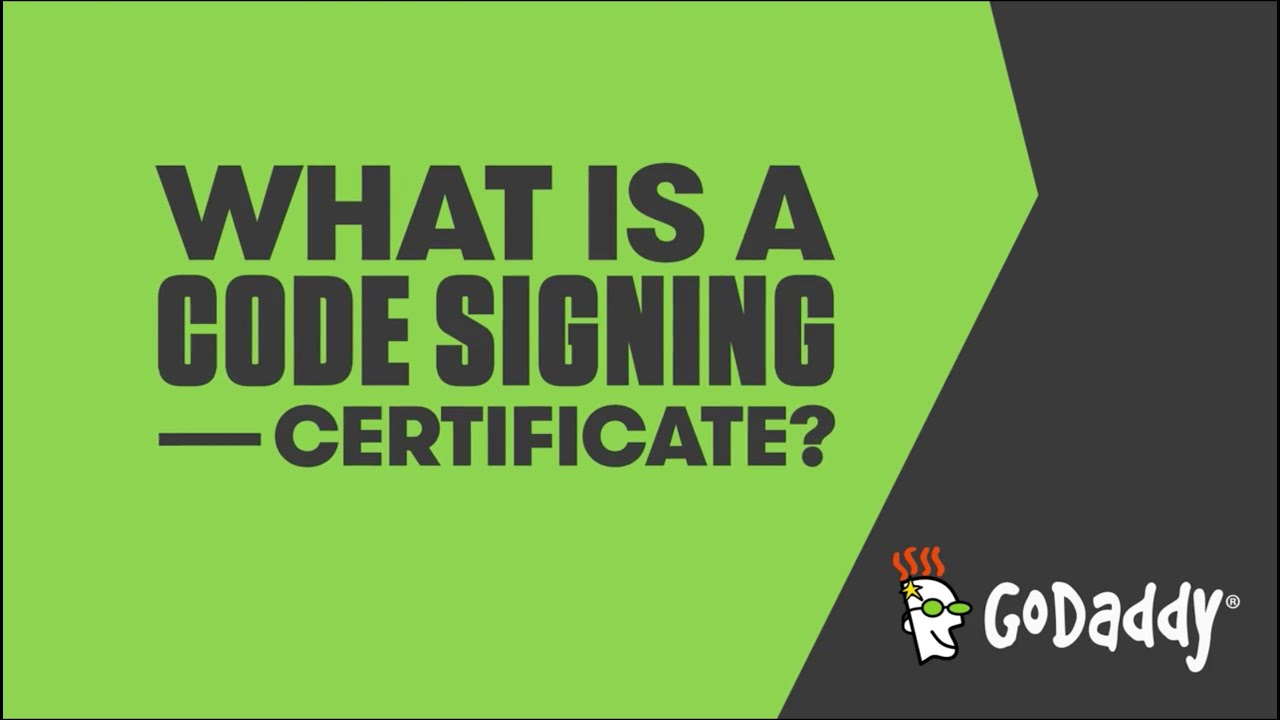 What Is A Code Signing Certificate Godaddy Youtube