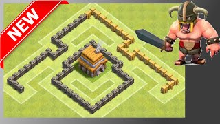 BEST Th4 Base For War/Trophies/Loot! Anti-Giant! [Build + Replays] Clash Of Clans (CoC)