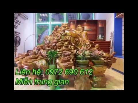 Tượng Phật Di Lặc gốc Xá Xị Vàng Nguyên Khối