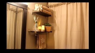 2017 AN AMAZING  DIY:  SMALL BATHROOM MAKEOVER -- PART 1
