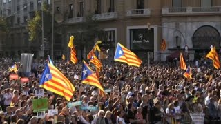 Catalans prostest for independence