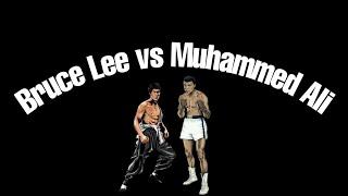 Bruce Lee and Muhammad Ali