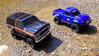 RC ADVENTURES - NEW DRIVER MOE's 2nd Trail Run with DAD!  Bronco and Ranger..  Traxxas TRX4