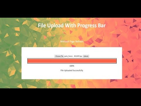 php ajax file upload with progress bar, upload file using ajax, file upload  plugin