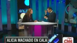Alicia Machado en entrevista con Cala - CNN.