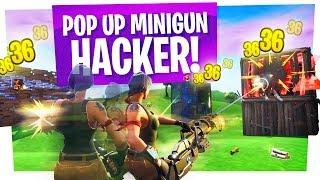 Fortnite Cheaters Everywhere! - Aimbotting Minigun Massacre